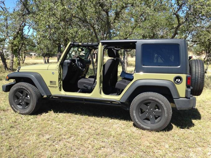 Hardtop On Freedom Panels Amp Doors Off Jeep Wrangler Forum