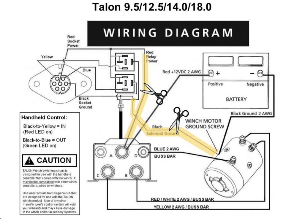 Remote winch solenoid install