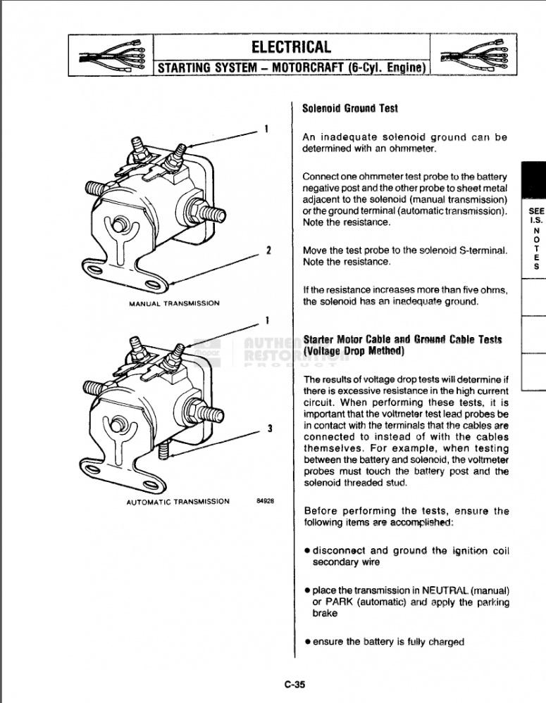 1987 Starter Relay?? | Jeep Wrangler ForumJeep Wrangler Forum