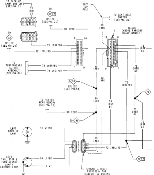 tail light wiring diagram 2000 jeep wrangler tail 2001 jeep wrangler brake wiring diagram wiring diagram and hernes on tail light wiring diagram 2000