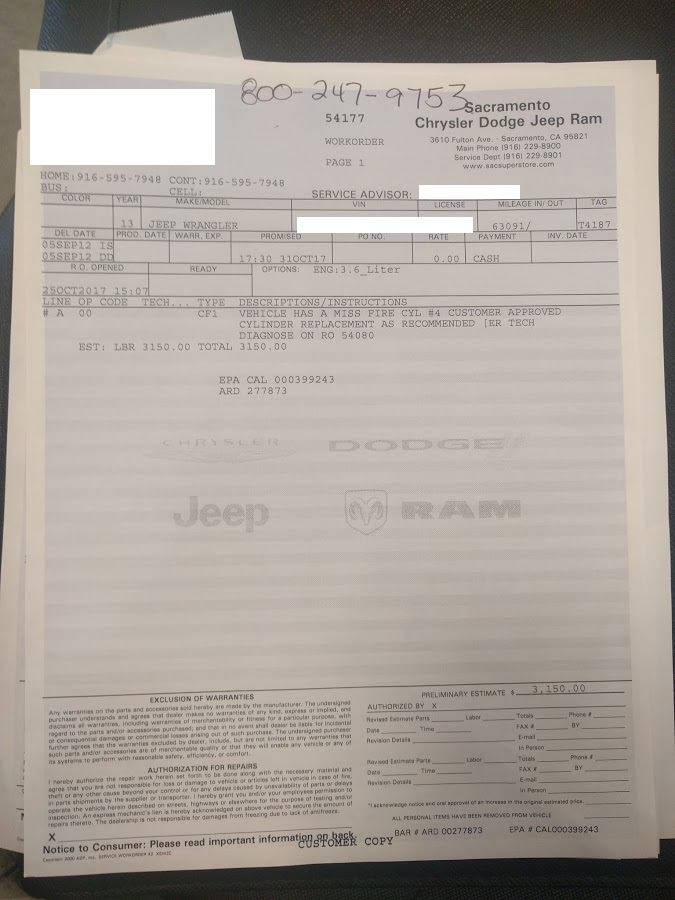 Update on ticking Pentastar  new head    - Page 211 - Jeep Wrangler