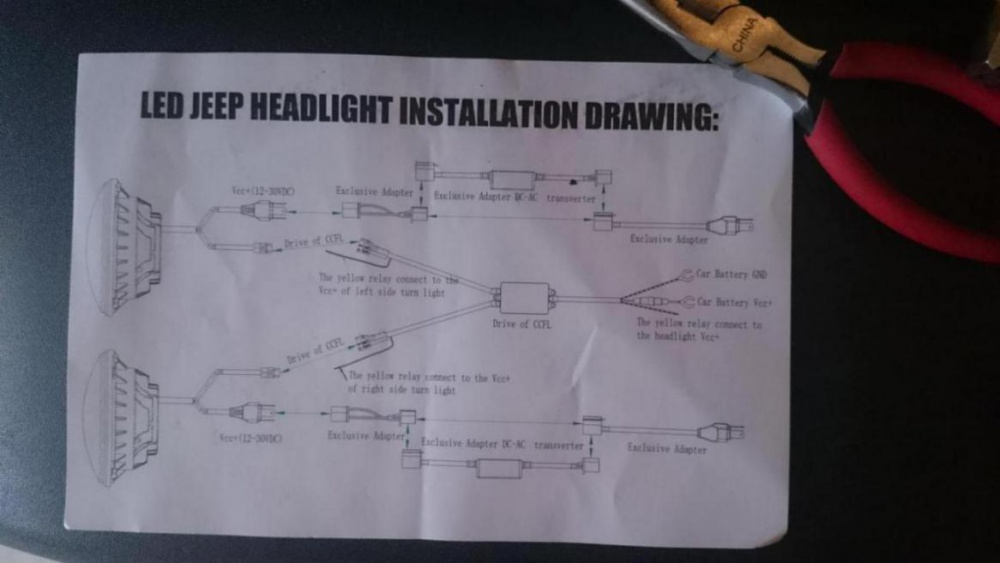 Jeep wrangler jk headlight wiring diagram diagram help wiring led headlights with halos jeep wrangler forum asfbconference2016 Image collections