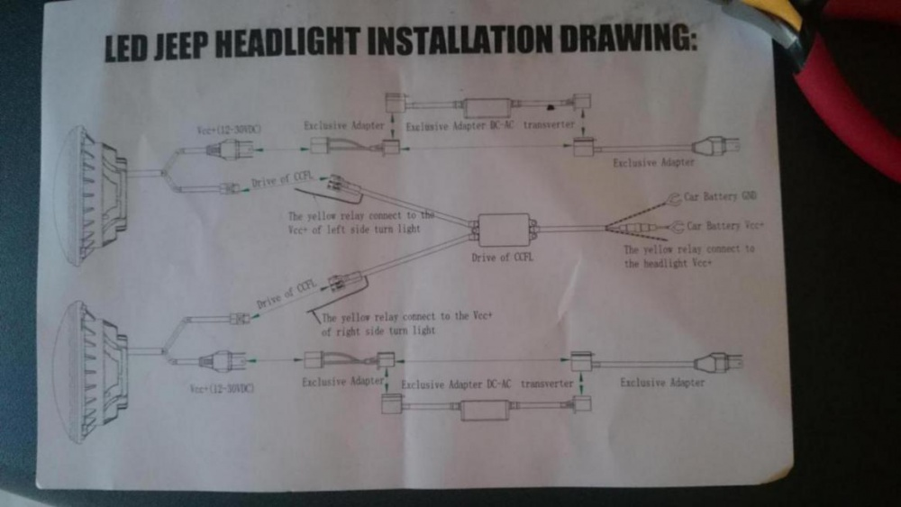 Help - Wiring Led Headlights with Halos - Jeep Wrangler Forum Halo Light Wiring Diagram An Jeep on sealed beam headlight wiring diagram, mustang 1995 5 0wiring diagram, fog lamp wiring diagram, hid with relay wiring diagram, spotlight wiring diagram, headlight plug wiring diagram, halo car lights wiring, halo wiring quick connect, 80 corvette wiring diagram, led wiring diagram, 65 mustang fog lamp diagram,