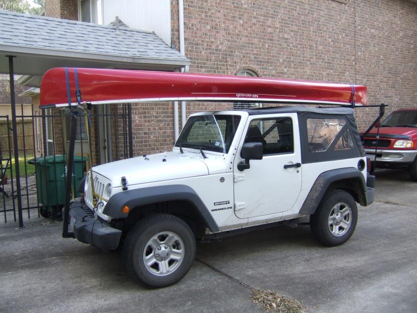 Jeep Wrangler Kayak Rack >> Canoe carrier for 2012 unlimited soft top - Jeep Wrangler ...