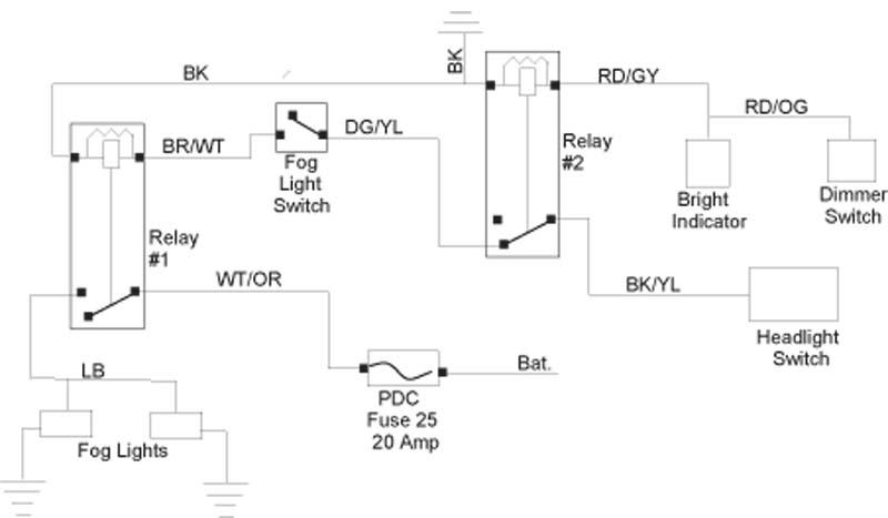 fog light wiring help jeep wrangler forum. Black Bedroom Furniture Sets. Home Design Ideas