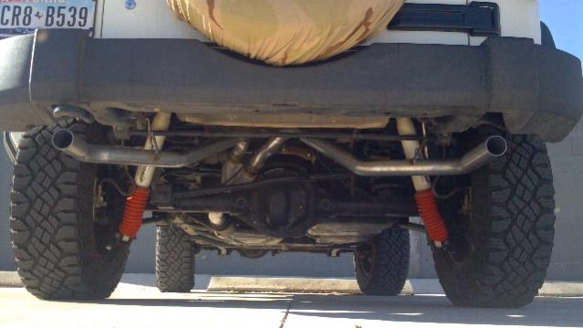 Dual exhaust on JK 2-door - Jeep Wrangler Forum