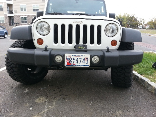 Front License Plate Amp Winch Jeep Wrangler Forum