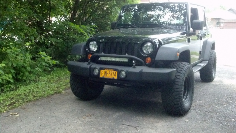 Light bar on mopar mount jeep wrangler forum aloadofball Images