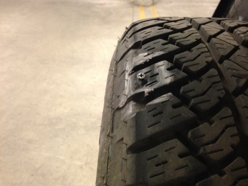 Nail In Tire Repair >> Nail too close to sidewall? - Jeep Wrangler Forum