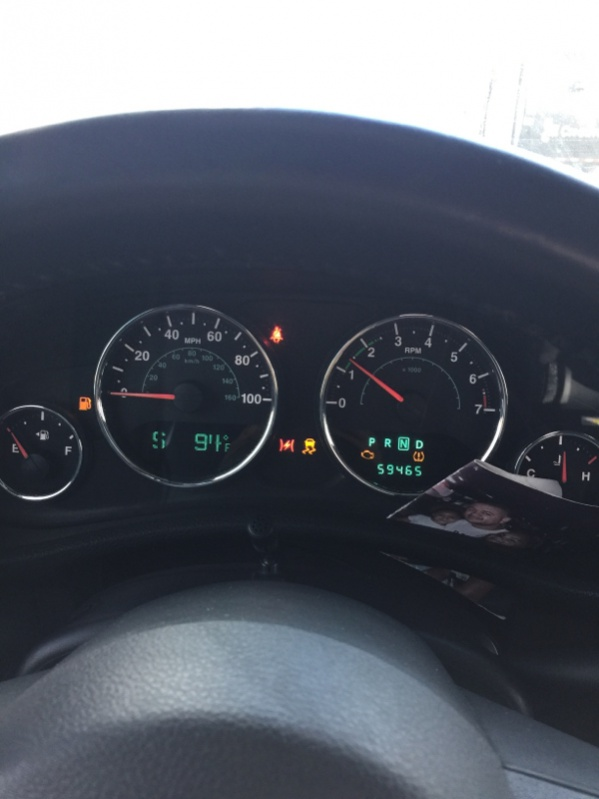 Check Engine Light And The Red Lightning Bolt And Slippery Car Popped Up Jeep Wrangler Forum