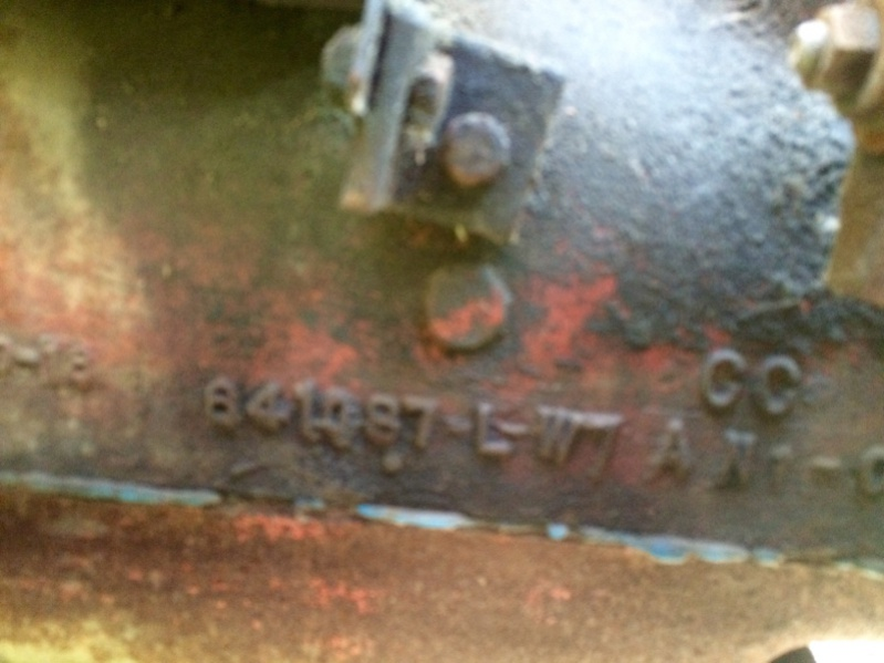 Attachment on Willys Jeep Engine Casting Numbers