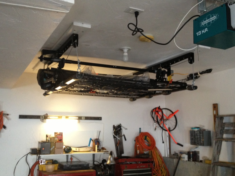 Hardtop hoist in an 8 5 ft garage jeep wrangler forum for Garage jeep nimes