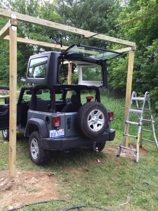 How do you store your top if you dont have a hoist jeep wrangler click image for larger version name image 739603976g views 1783 size solutioingenieria Image collections