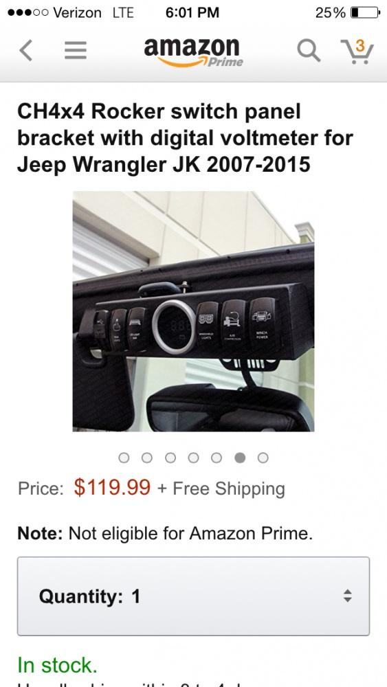 Rocker Switch Panel - Jeep Wrangler Forum