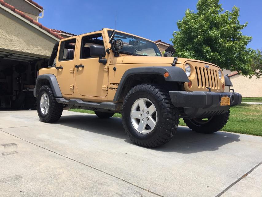 Jeep Wrangler For Sale Ontario >> 305/70R17 on stock wheels and TeraFlex leveling kit? - Jeep Wrangler Forum
