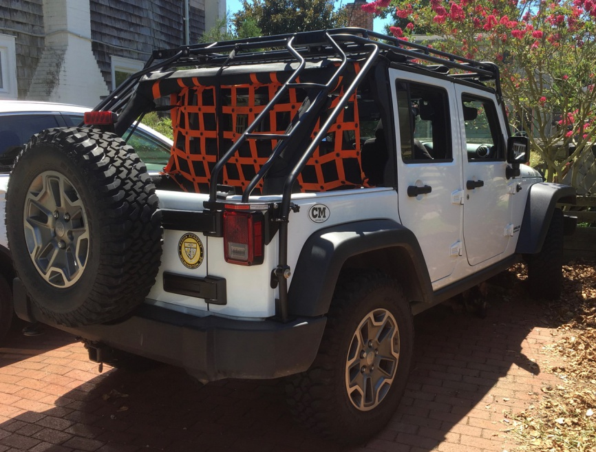 White Jku W Gobi 45 Slantback Rack Jeep Wrangler Forum