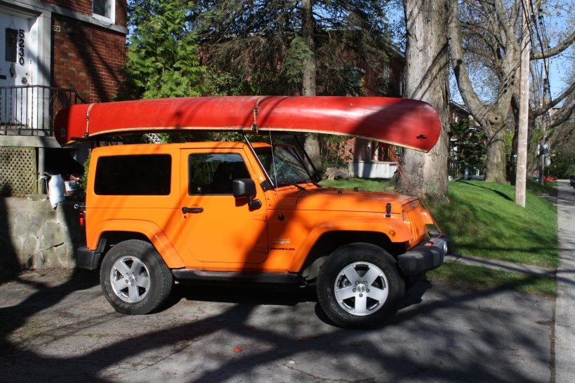 Canoe Carrier For 2012 Unlimited Soft Top Jeep Wrangler