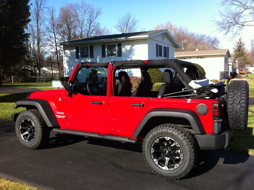 Lifted Jeep Wrangler Unlimited No Doors