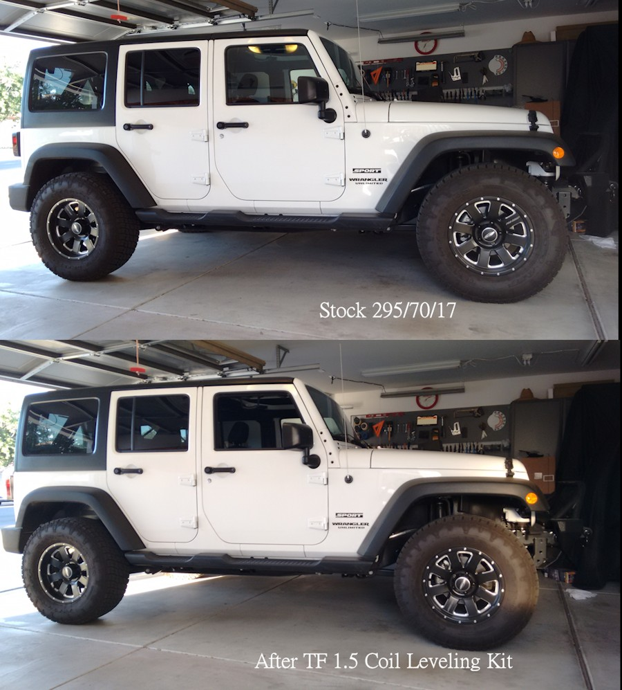 Jeep Leveling Kit >> 305 70r17 On Stock Wheels And Teraflex Leveling Kit Jeep Wrangler