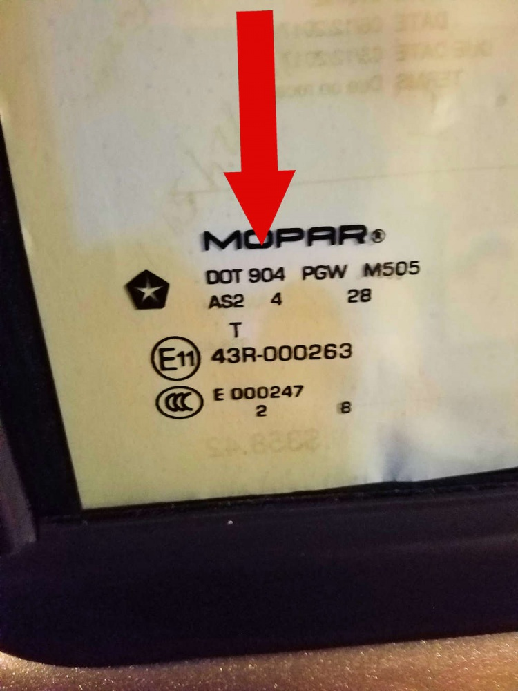 Mopar Windshield And Door Glass Dot Pic Request Jeep
