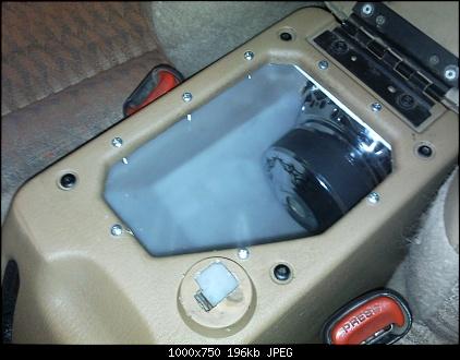 Attachment on Jeep Wrangler Tj Center Console Subwoofer