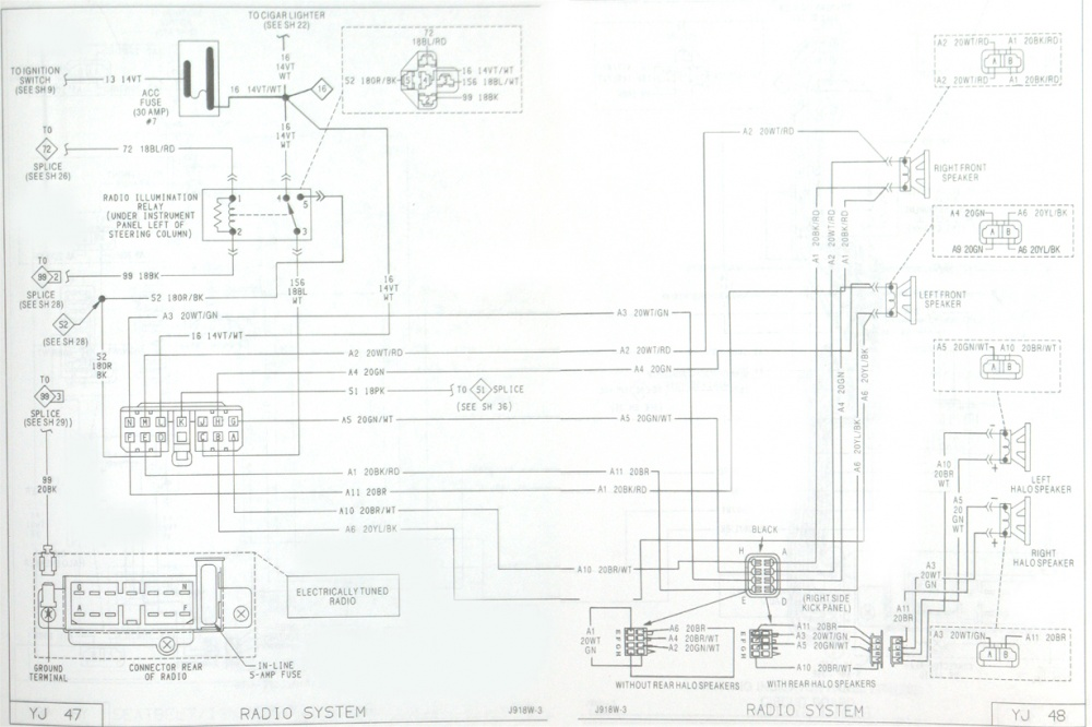 1991 Jeep Wrangler Yj Radio Wiring Diagram