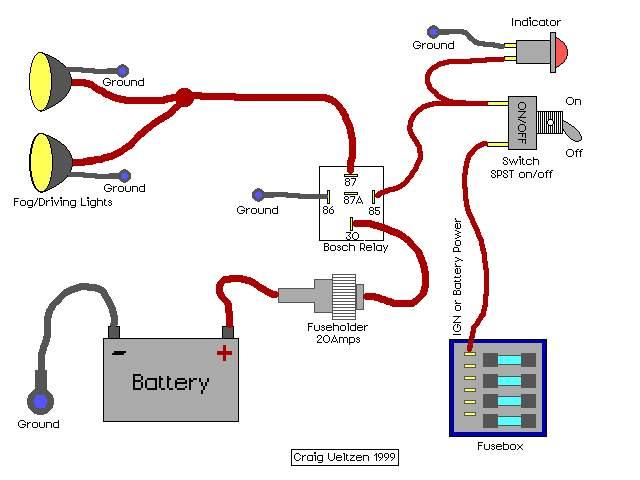 4 lights 1 switch - jeep wrangler forum, Wiring diagram