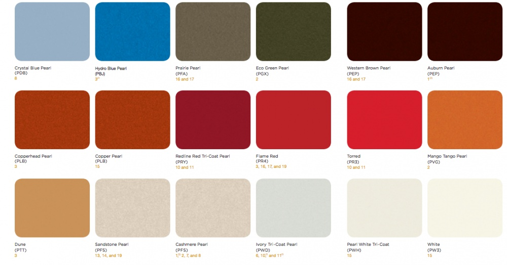 2016 Jeep Color Chart   Auxdelicesdirene.com