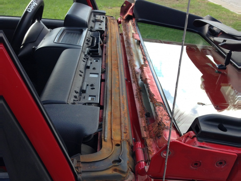 Windshield frame rust prevention ideas - Jeep Wrangler Forum