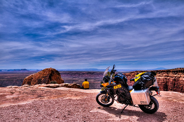 2009 Bmw F800gs At Muley Point, Decked Out