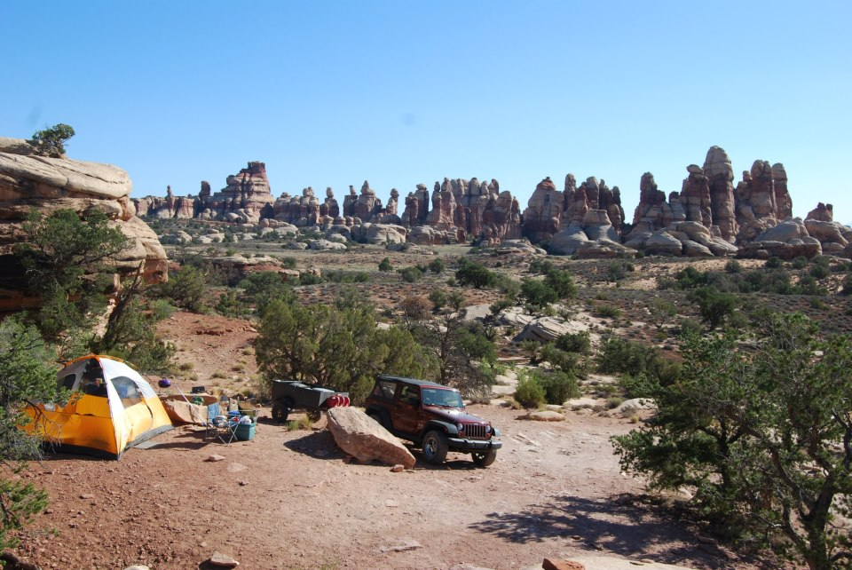 Camping At Doll House 3 Maze District Canyonlands Np