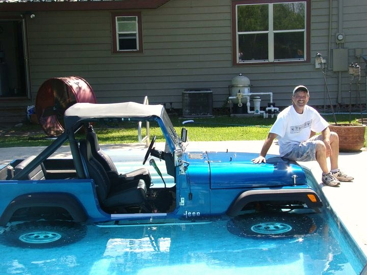 Jeep In Pool
