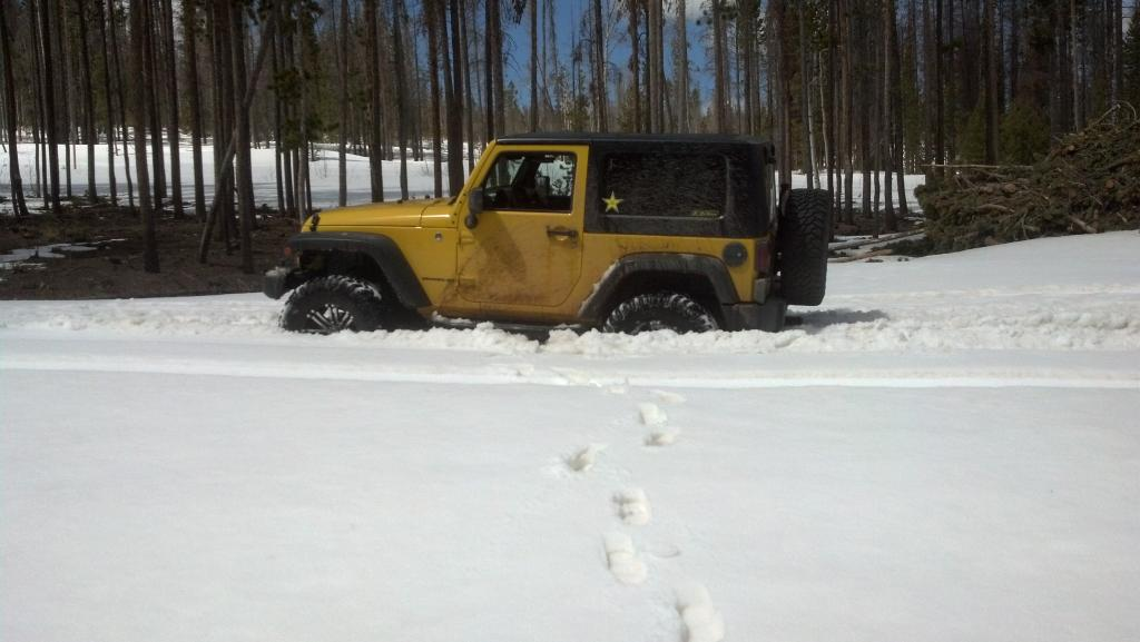 Jeep In The Snow
