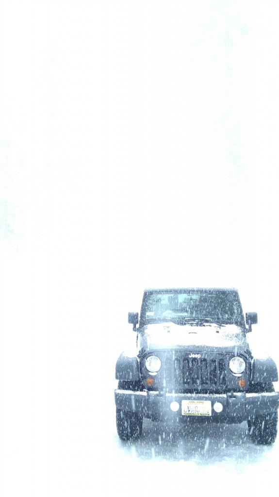Jeep On The Snow