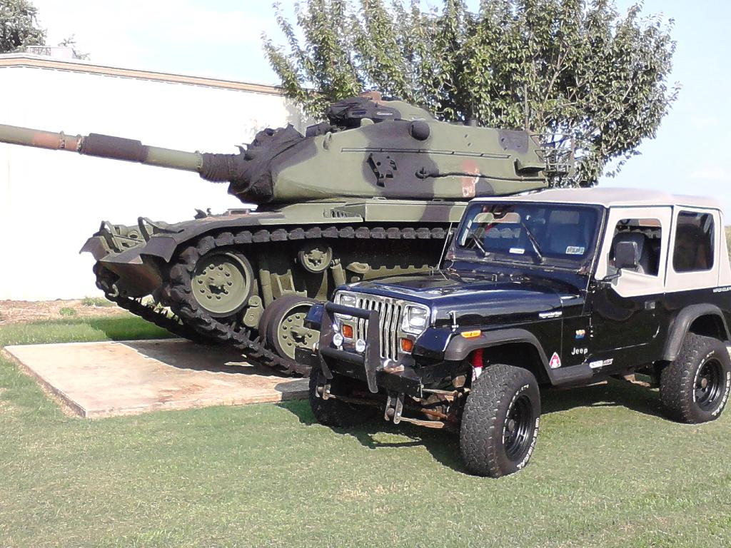 Jeep Yj And Tank