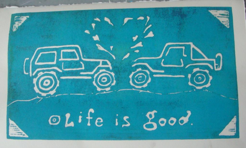 Life Is Good Jeep - Aqua