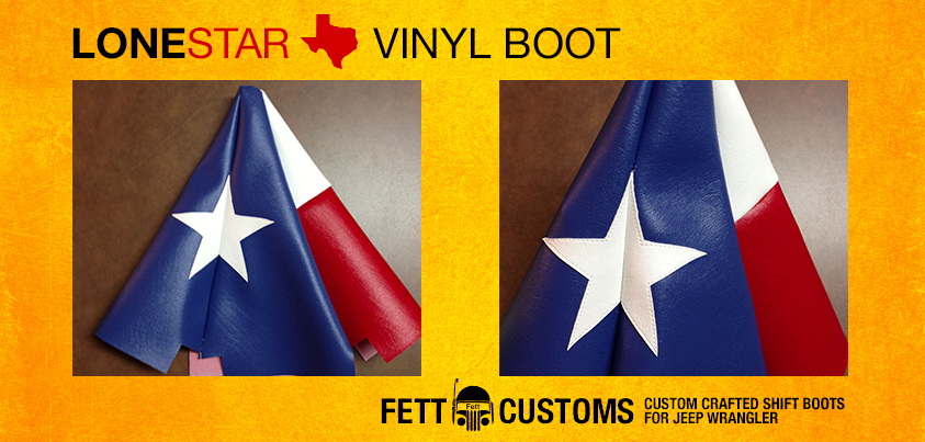 Lone Star Edition Shift Boot For Jeep Wrangler Tj