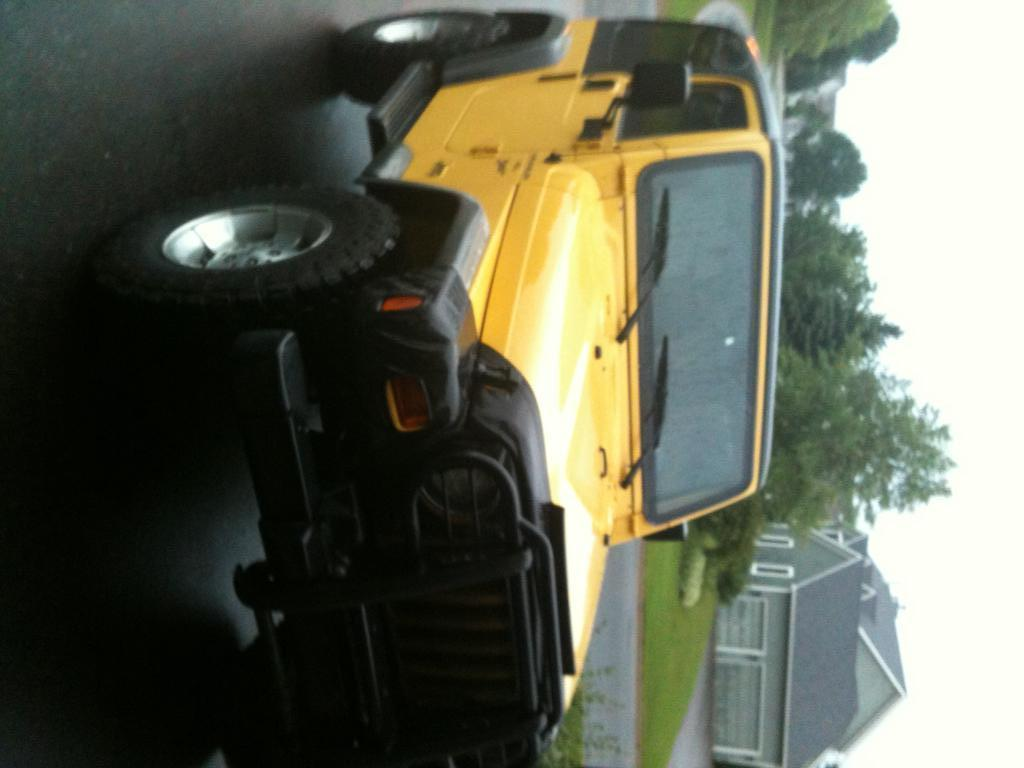 My New Yellow Jeep