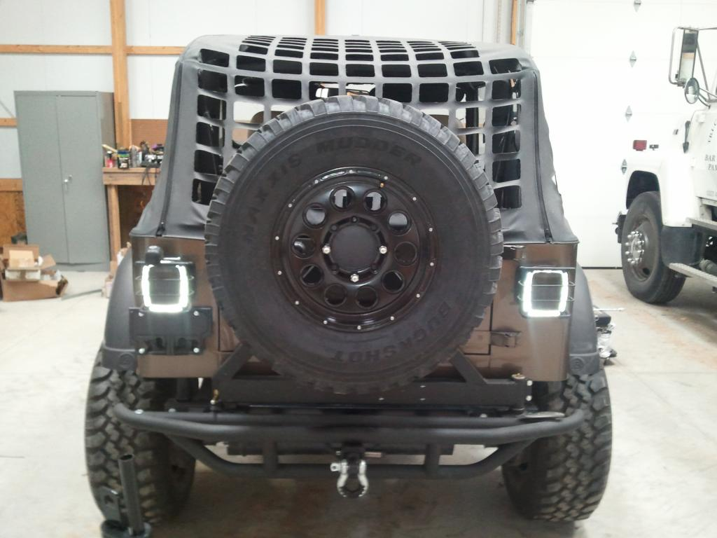 New Rear Bumper And Custom Tire Mount 8 Hole