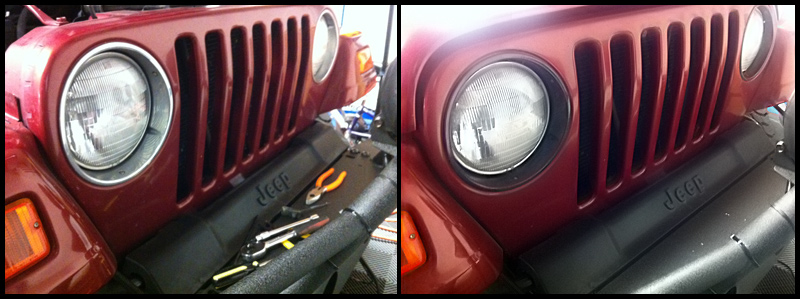 Painted Headlight Bezel