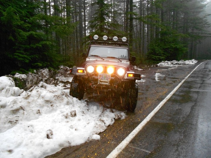 Playing in the Snow at Larch Mountain Oregon