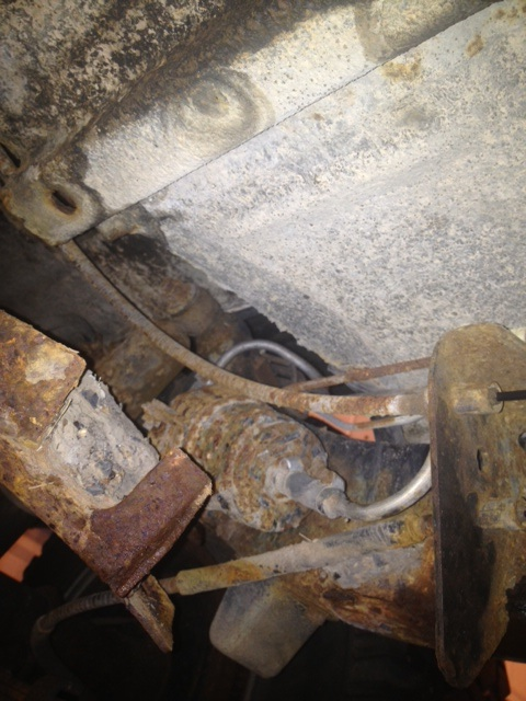 Rusted Fuel Filter And Cover