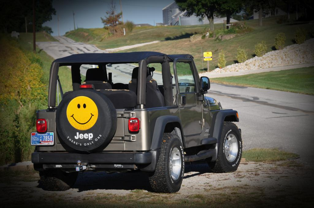Smileyface Jeep Cover