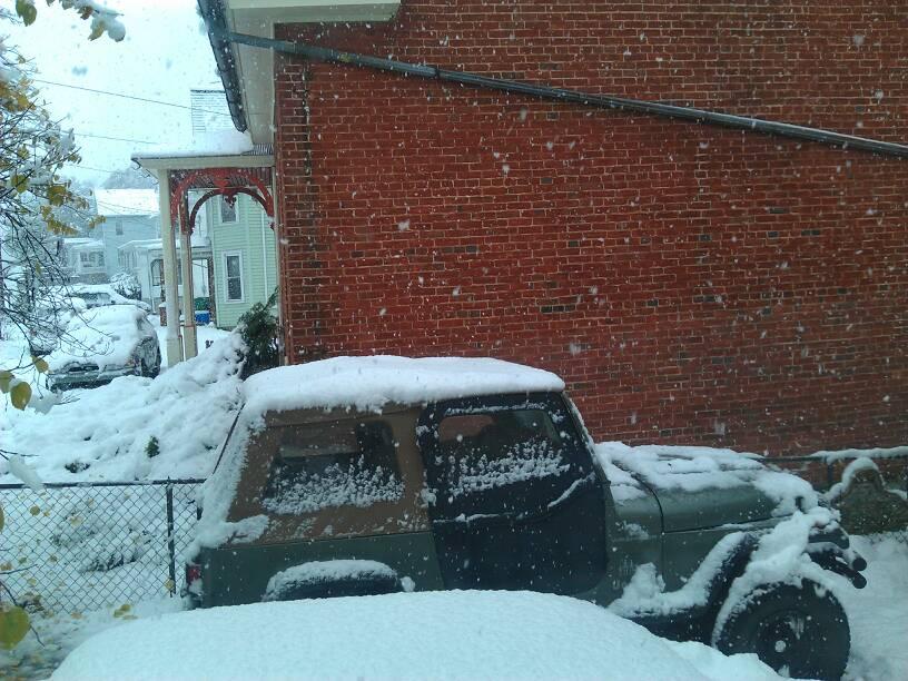 Snowy Jeep